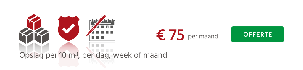 Opslag voor verhuizing per dag , week of maand